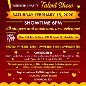 PoPMM & Artists: Valentine's Weekend Charity Talent Show