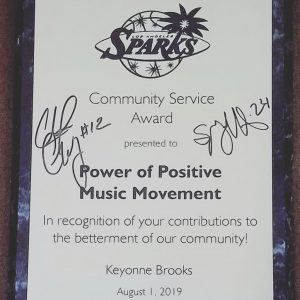 WNBA Los Angeles Sparks Power of Positive Music Movement Chelsea Gray Sydney Wiese
