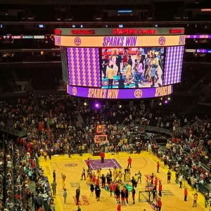 WNBA Los Angeles Sparks Power of Positive Music Movement LA Sparks vs Las Vegas Aces