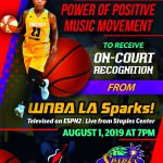 WNBA Los Angeles Sparks Power of Positive Music Movement