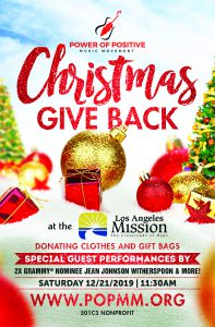 Power of Positive Music Movement Christmas Give Back Los Angles Mission